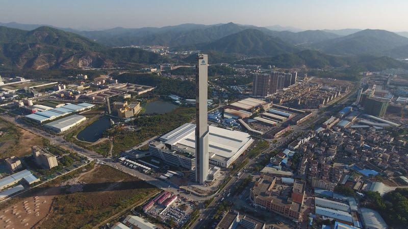 中山新工厂实景鸟瞰图